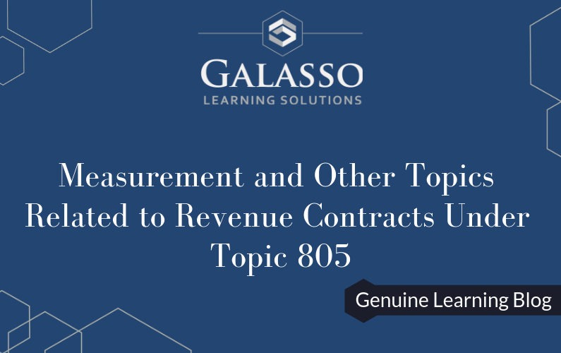 Measurement and Other Topics Related to Revenue Contracts Under Topic 805