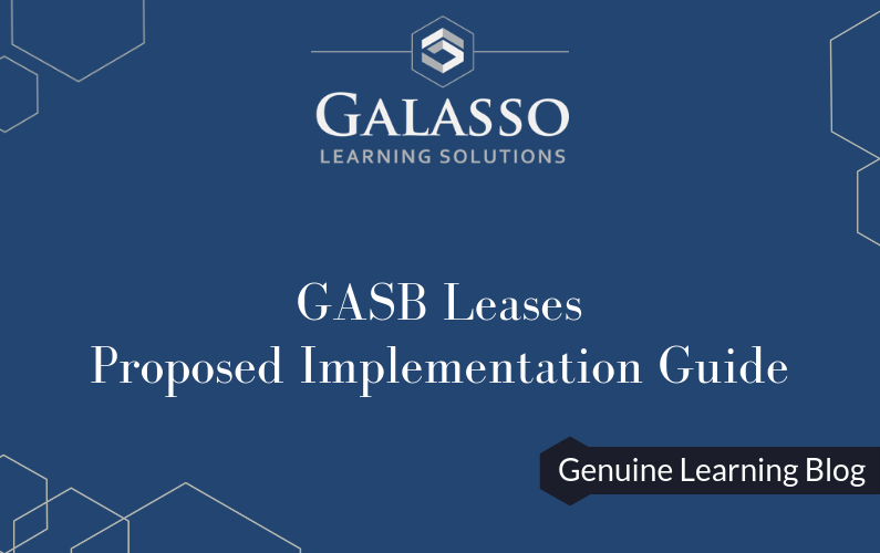 GASB Leases – Proposed Implementation Guide
