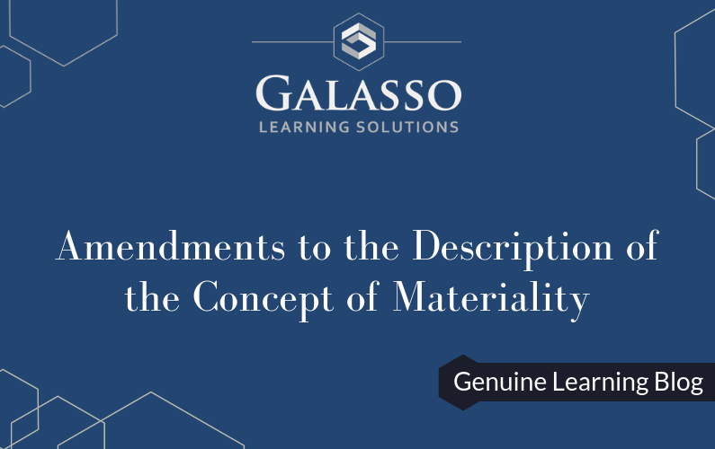 Amendments to the Description of the Concept of Materiality