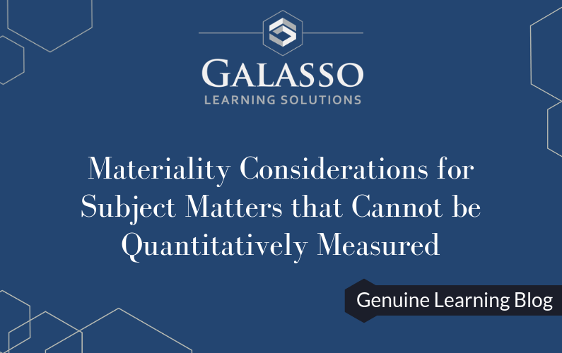 Materiality Considerations for Subject Matters that Cannot be Quantitatively Measured