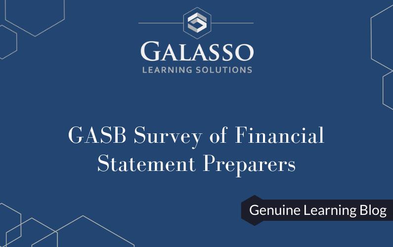 GASB Survey of Financial Statement Preparers