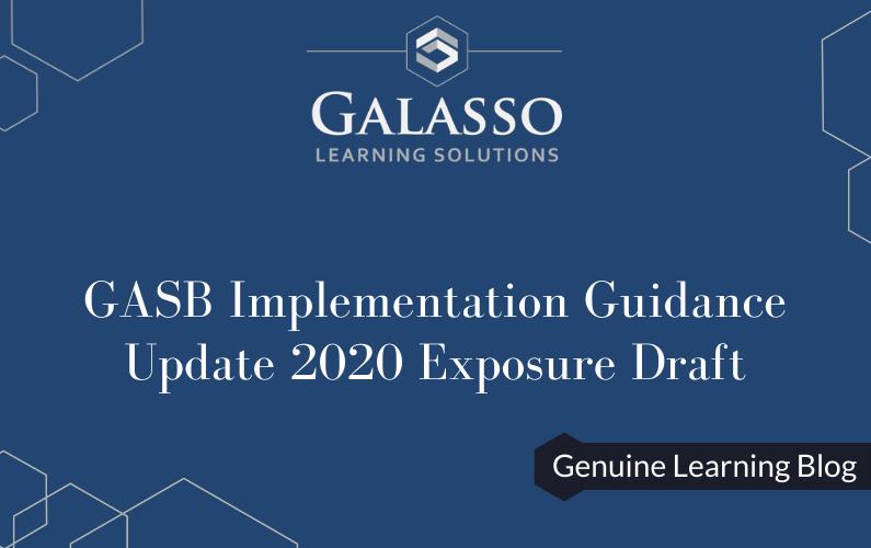 GASB Implementation Guidance Update 2020 Exposure Draft