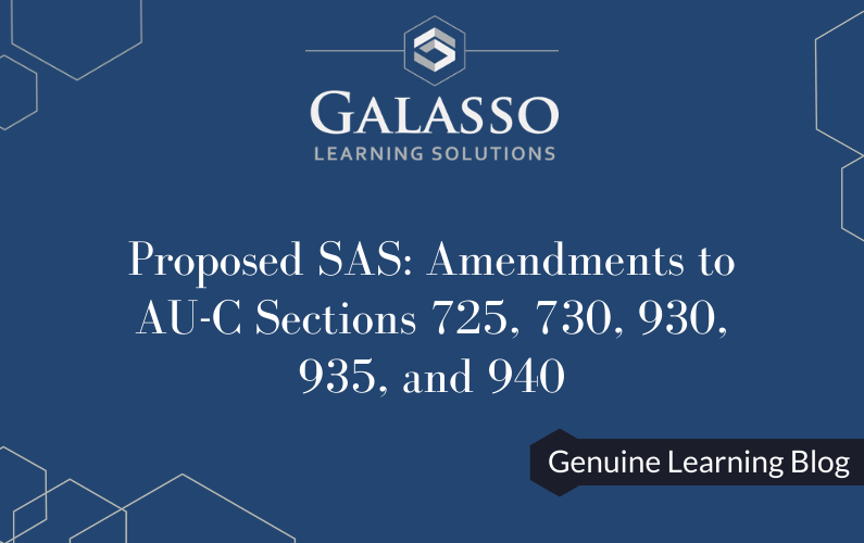 Proposed SAS:  Amendments to AU-C Sections 725, 730, 930, 935, and 940