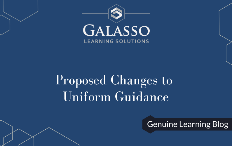 Proposed Changes to Uniform Guidance
