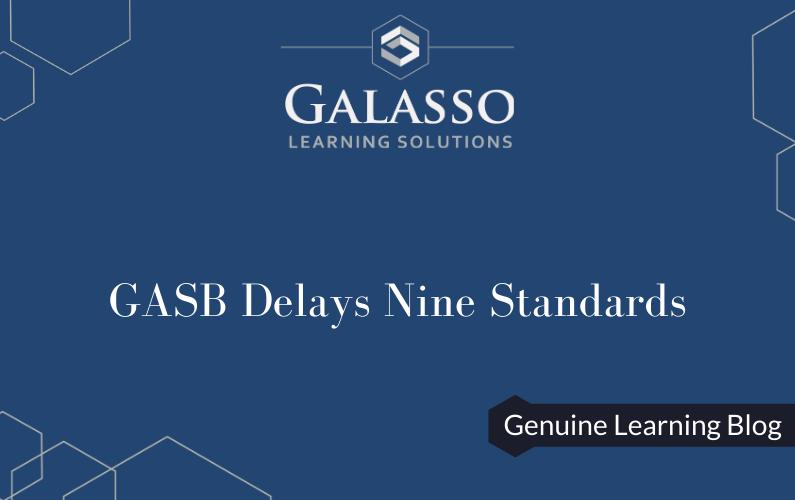 GASB Delays Nine Standards