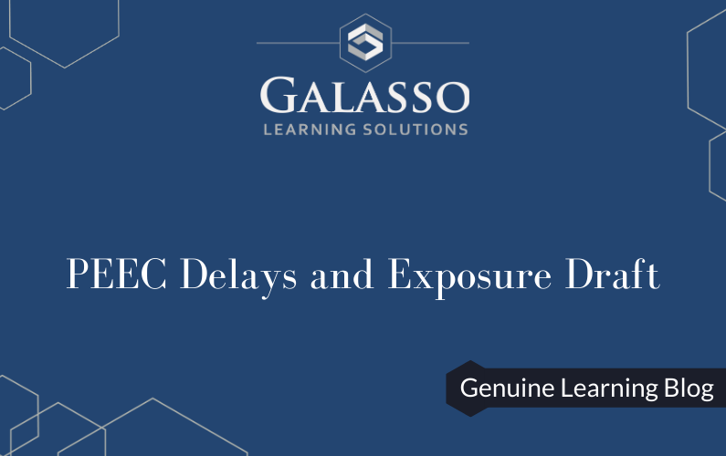 PEEC Delays and Exposure Draft