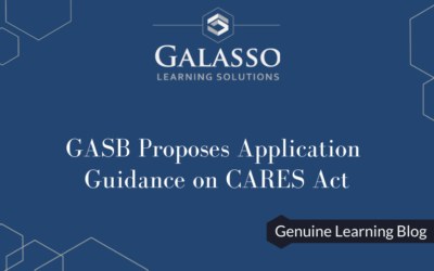 GASB Proposes Application Guidance on CARES Act