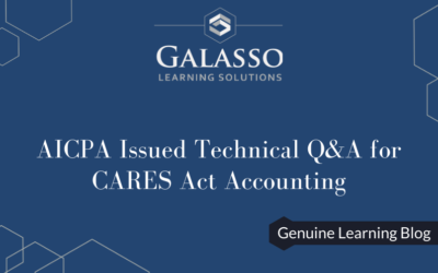 AICPA Issued Technical Q&A for CARES Act Accounting
