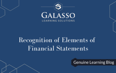 Recognition of Elements of Financial Statements