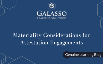 Materiality Considerations for Attestation Engagements