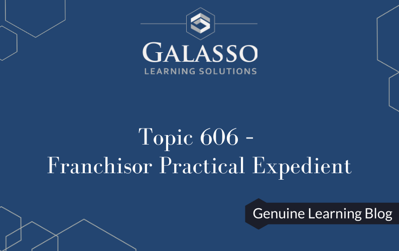 Topic 606 – Franchisor Practical Expedient