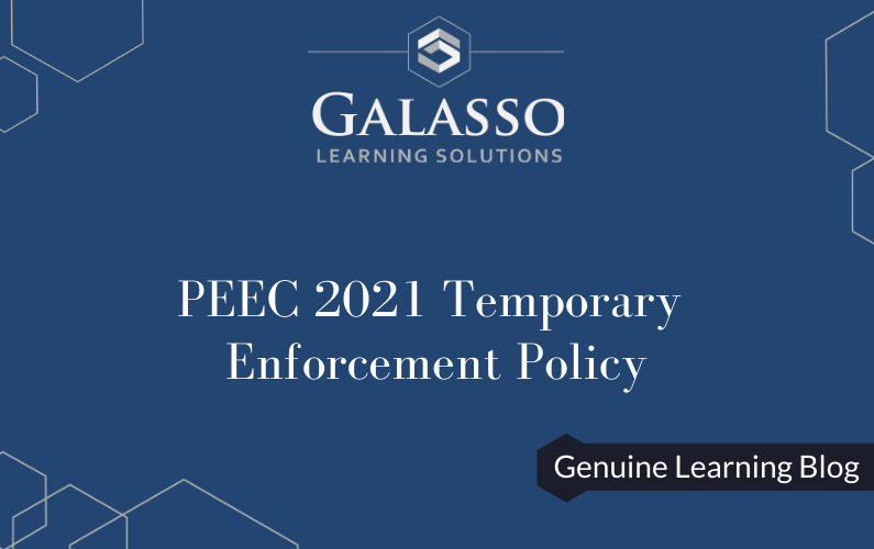 PEEC 2021 Temporary Enforcement Policy