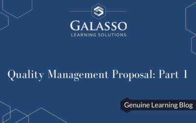 Quality Management Proposal: Part 1