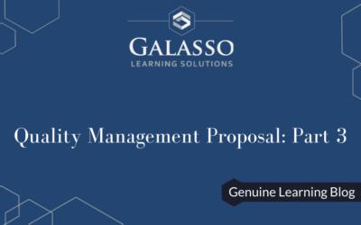 Quality Management Proposal: Part 3