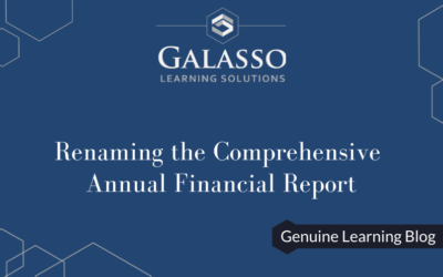 Renaming the Comprehensive Annual Financial Report