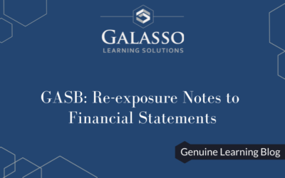 GASB: Re-exposure Notes to Financial Statements