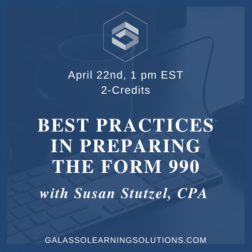 Best Practices in Preparing the Form 990