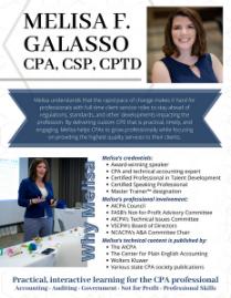 Melisa Galasso - Speaker One Sheet